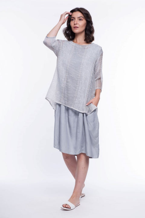 Texture Tunic - Breathable Naturals | Glam & Fame Clothing
