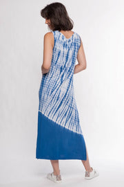 Tie Dye Sleeveless Maxi Dress - Breathable Naturals | Glam & Fame Clothing