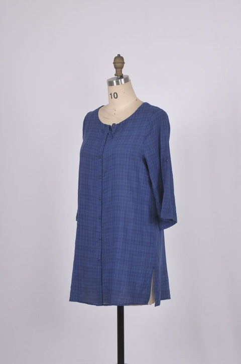 G&F Wendy Long Cotton Plaid Shirt - Glam & Fame | Breathable Naturals