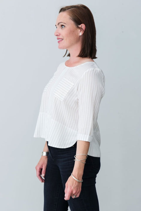 Winnie Cotton Blend Top - Breathable Naturals | Glam & Fame Clothing