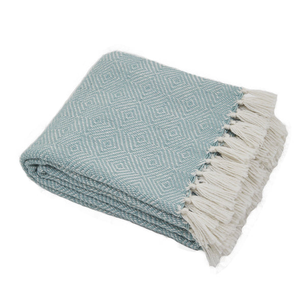 Weaver Green Diamond Teal Blanket