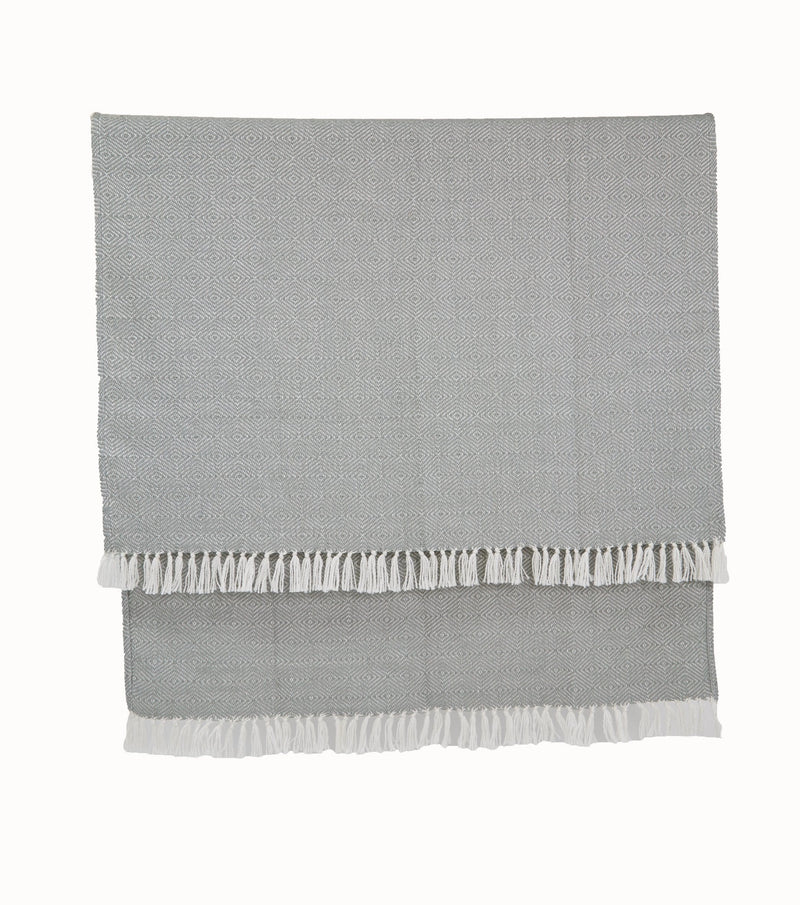 Weaver Green Diamond Dove Grey Blanket