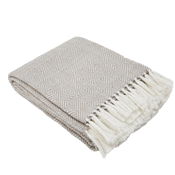 Weaver Green Diamond Chincilla 100% Recycled Luxury Eco Friendly Blanket