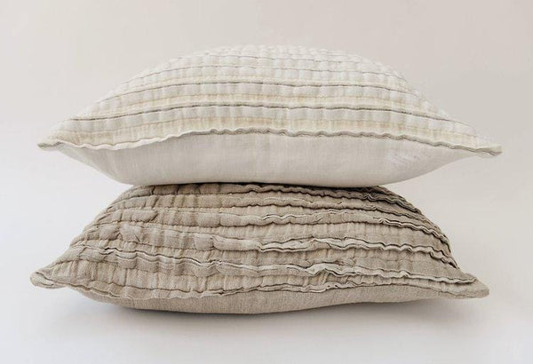 Pure Linen Frill Cushion