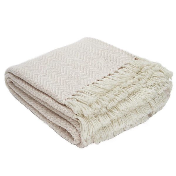 Weaver Green Shell Herringbone Luxry Eco Friendly Blanket