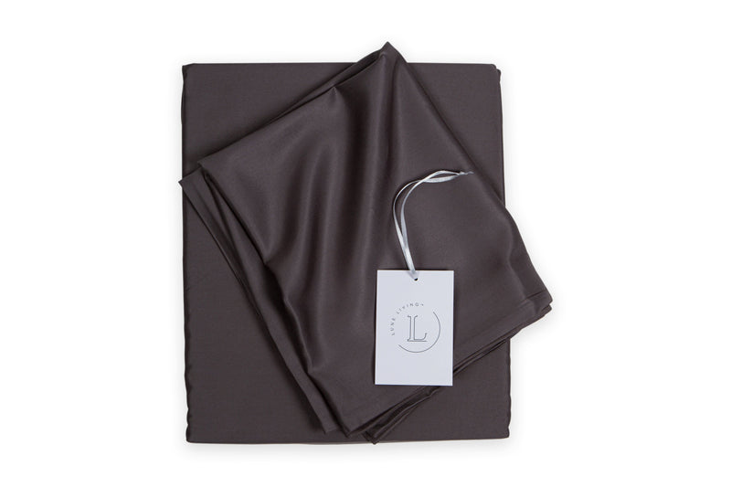 Bamboo Fitted sheet, 34cm deep, reuseable bamboo fabric outer bags. Lakeland Slate