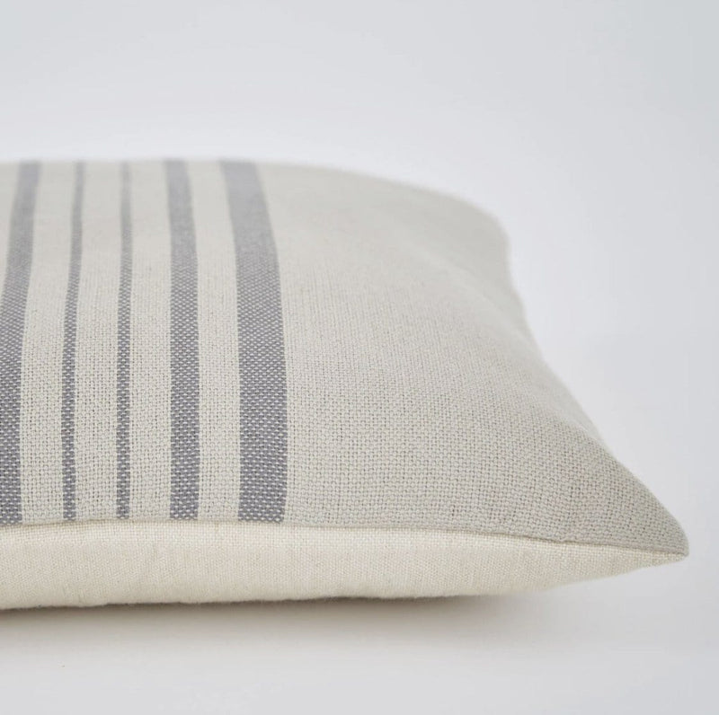 Recycled Antibes Linen with Grey Stripe Cushion