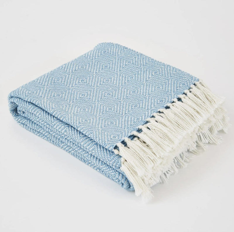 Weaver Green Diamond Azure Blanket