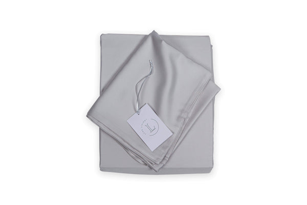 Bamboo Fitted sheet, 34cm deep, reuseable bamboo fabric outer bags. Winter Grey