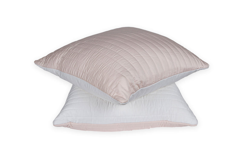 Quilted Bamboo Cushion Cover Whispering White/Angel Delight