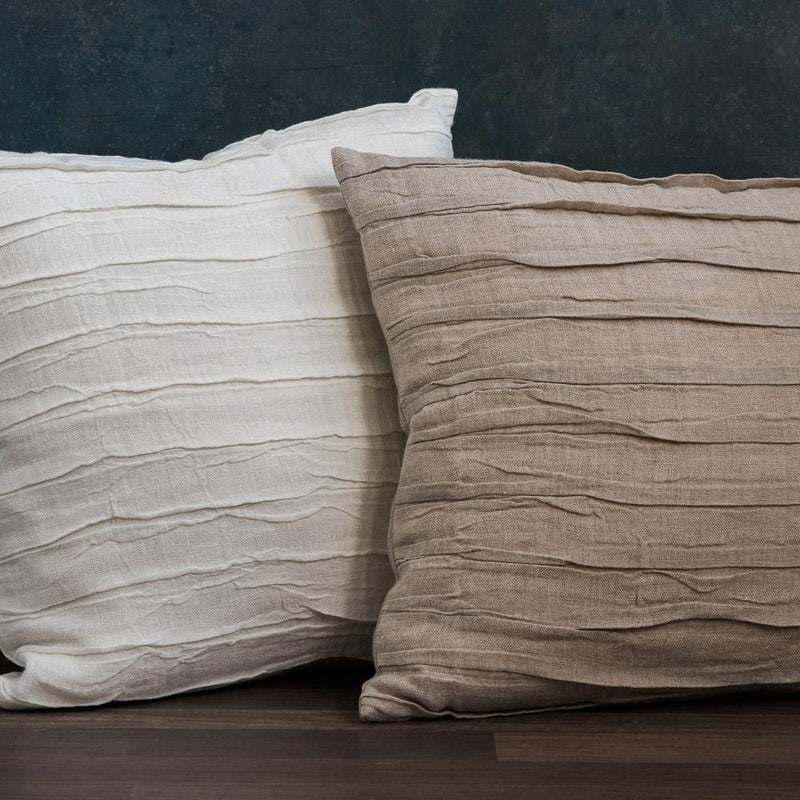 Linen Ruffled Cushions