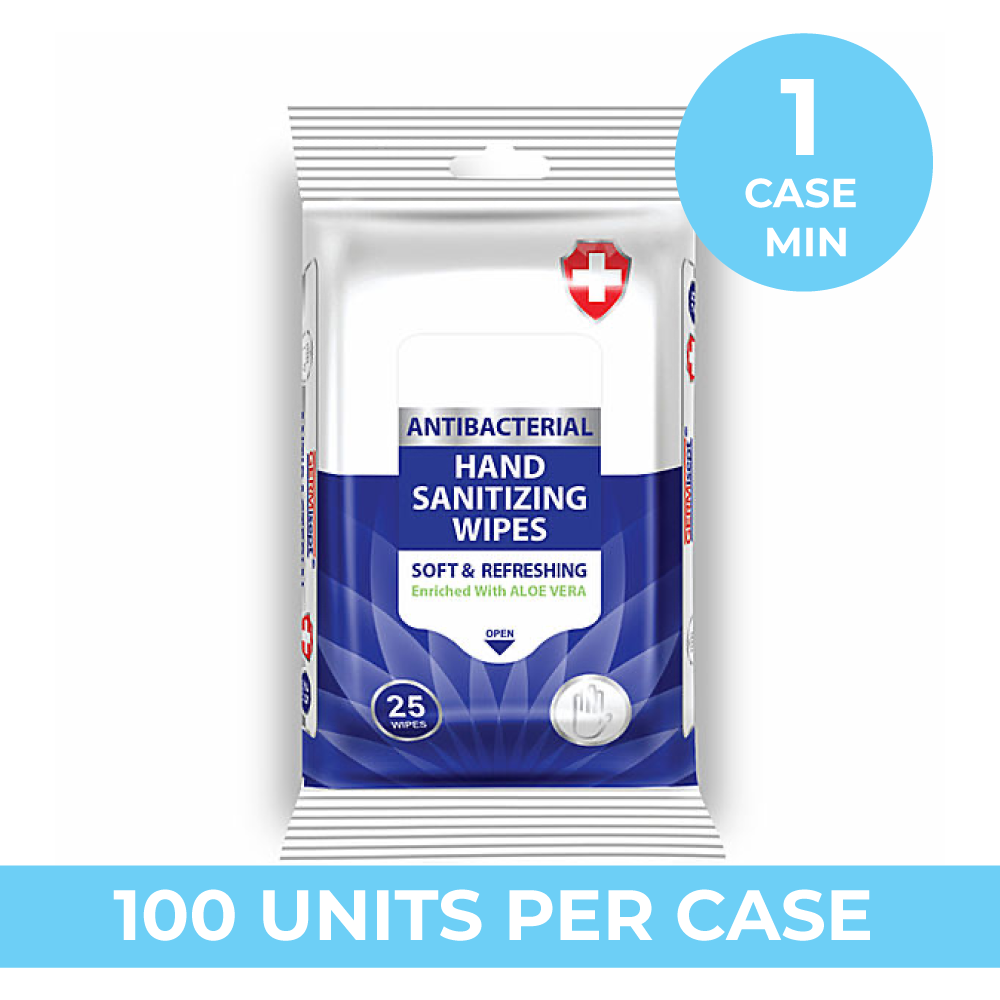 ANTIBACTERIAL WIPES 25ct