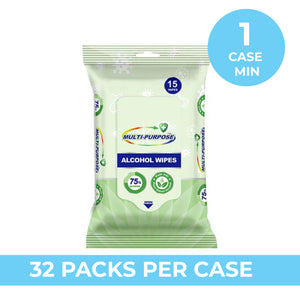 75% ALCOHOL WIPES 15 PACK
