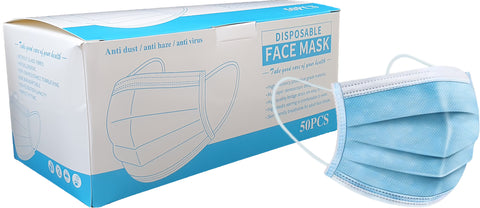 Disposable Face Masks (3 Ply Plain)
