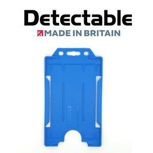 Detectable Blue Single Sided Portrait ID Badge Holders (Pack of 100)