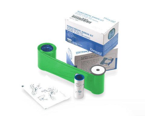 Datacard Monochrome Green Ribbon - Prints 1500 Cards (532000-008)