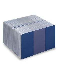 Blank Mid Blue / White Printable PVC Cards - Pack of 100 (WMBLUEPVC760)