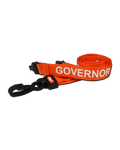 Printed 'Governor' 15mm Orange Lanyard with Plastic J-Clip (Pack of 50)