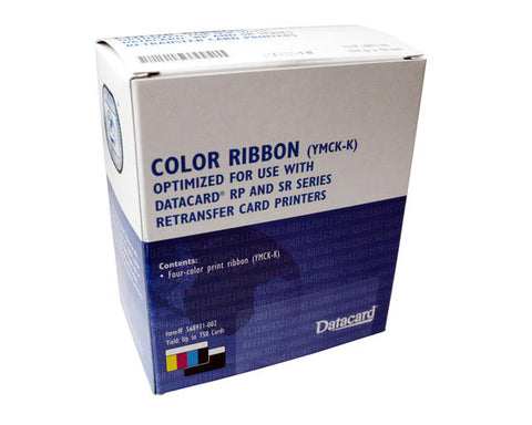 Datacard YMCK-K Colour Ribbon - Prints 750 Cards (568971-002)