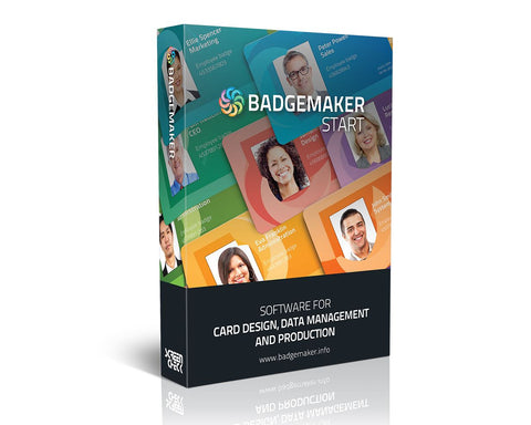 BadgeMaker START – ID Card Software, ID Card Maker, Badge Software (BADGEMAKER-START)