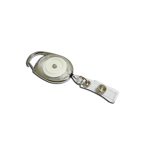 Premier YoYo Badge Reel - Clear with Strap Clip (Pack of 100)