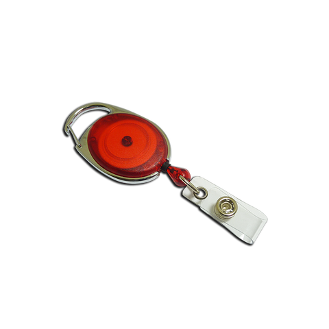Premier YoYo Badge Reel - Red with Strap Clip (Pack of 100)