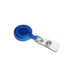 'Jazz' YoYo Badge Reel - Blue with Strap Clip (Pack of 100)
