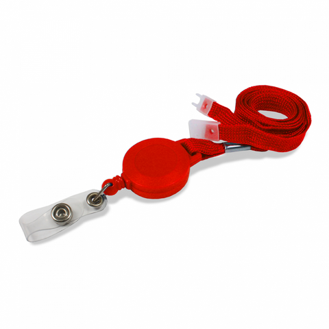 Breakaway YoYo Badge Reel - 10mm Red with Strap Fitting (Pack of 100)