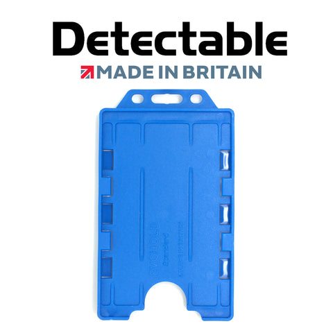 Detectable Double Sided Portrait ID Badge Holders (Pack of 100)