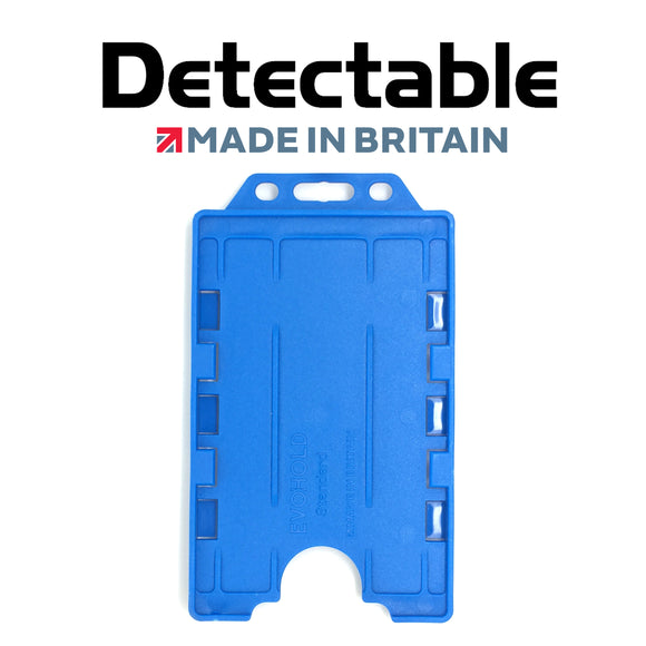 Detectable Blue Double Sided Portrait ID Badge Holders (Pack of 100)