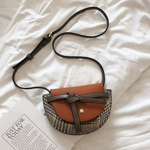 Fashion Leather Small Saddle Bag for Women