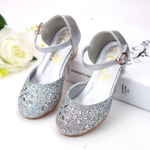 Girls high heel shoes children's sandals