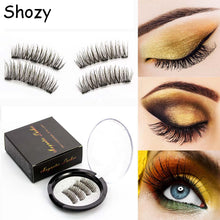 Load image into Gallery viewer, Shozy Magnetic eyelashes with 3 magnets handmade 3D magnetic lashes natural false eyelashes magnet lashes with gift box-24P-3