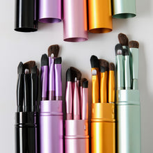 Load image into Gallery viewer, BBL 5pcs Travel Portable Mini Eye Makeup Brushes Set Smudge Eyeshadow Eyeliner Eyebrow Brush Lip Make Up Brush kit Professional