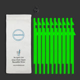 "WonderSip Leaf Long ""Glow In The Dark"" Reusable Straw"