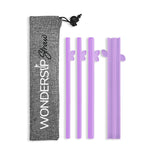 WonderSip Butterfly Combo Reusable Straw (4pcs Pack)