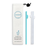 WonderSip Dolphin Classic Reusable Straw (2 Pack)