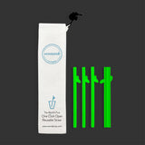 "WonderSip Leaf Junior/Cocktail ""Glow In The Dark"" Reusable Straw"