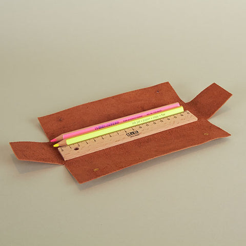Slim Leather Pencil Case
