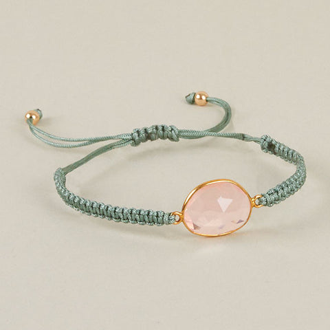 Rose Quartz Gilt Bracelet