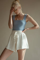 Square Up Knit Top - Baby Blue (Sold Out)