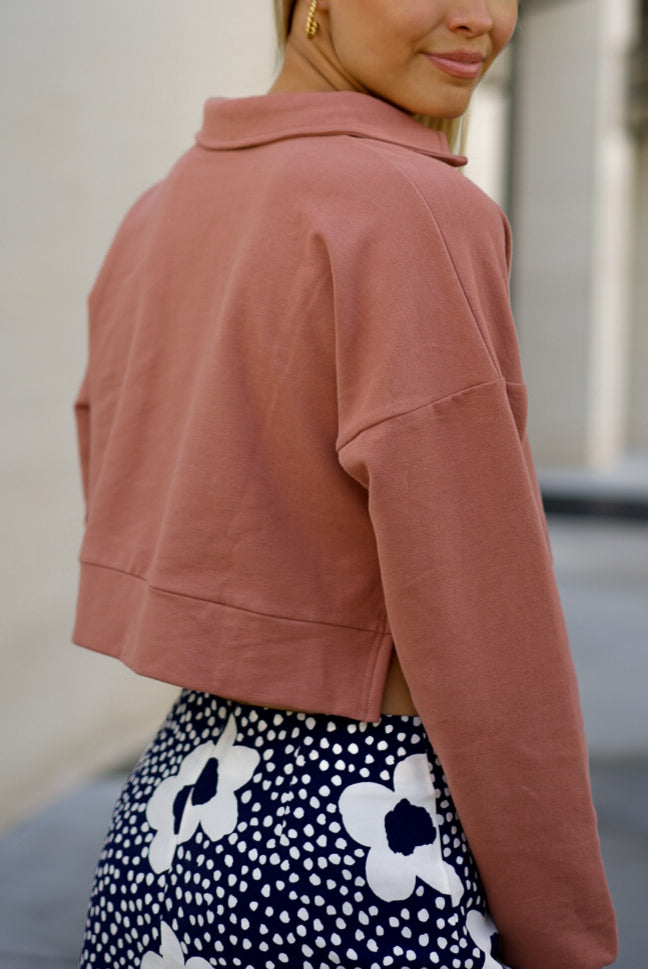 Terracotta Soft Collar Sweatshirt