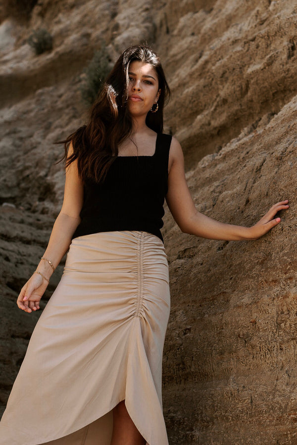 Reliable Midi Skirt - Sand