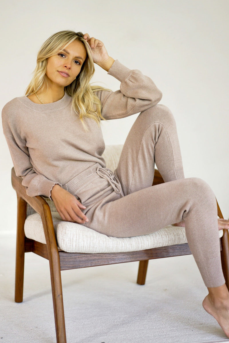 Sugar Stretch Knit Set — Taupe (Sold Out)