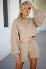 Adeline Knit Shorts — Taupe (Sold Out)