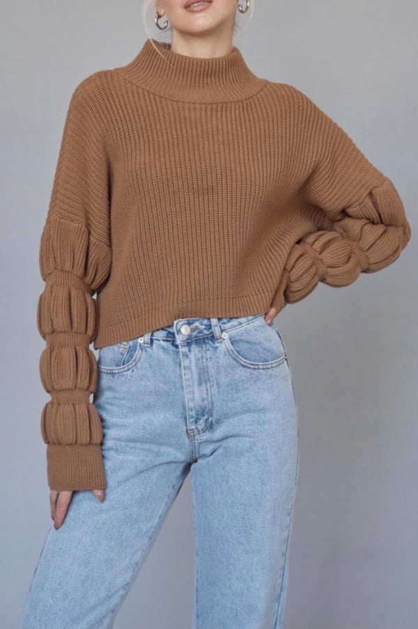 Bubble Buttercup Sweater — Mocha (Sold Out)