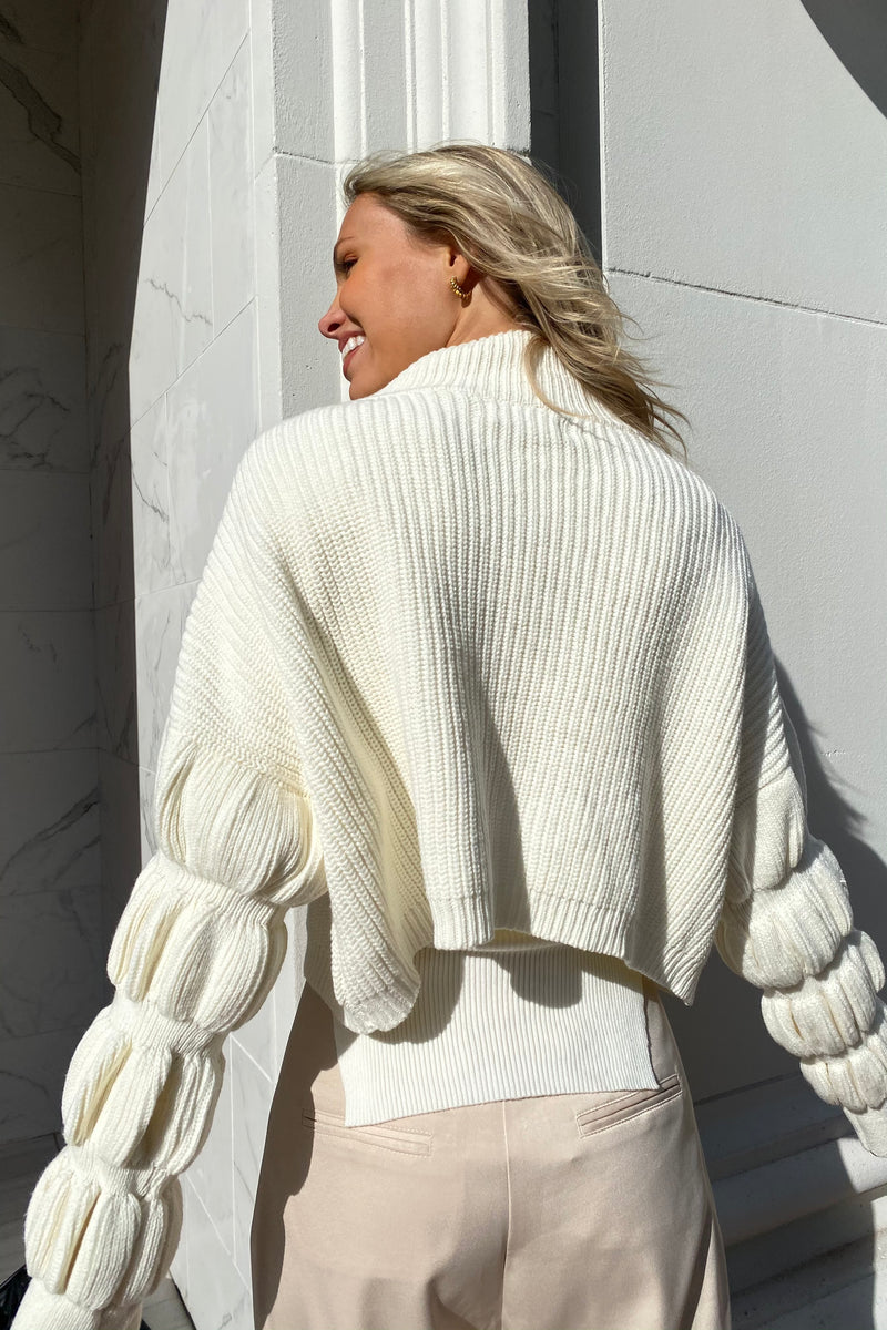 Bubble Buttercup Sweater — Ivory