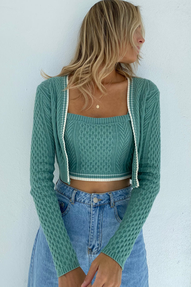 Shay Sweater Two Piece Top Set