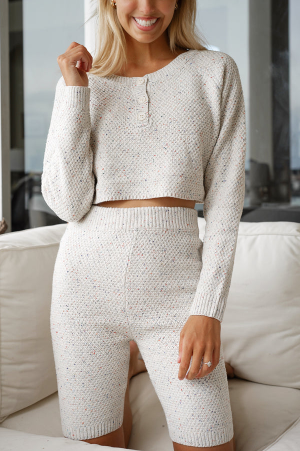Cuddle Me Knit Set — Eggshell (Sold Out)