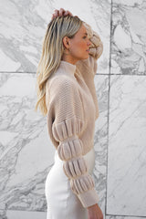 Bubble Buttercup Sweater — Taupe (Sold Out)
